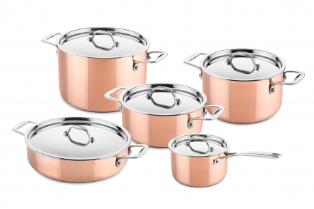 5 pcs copper cookware set (suitable for induction)
