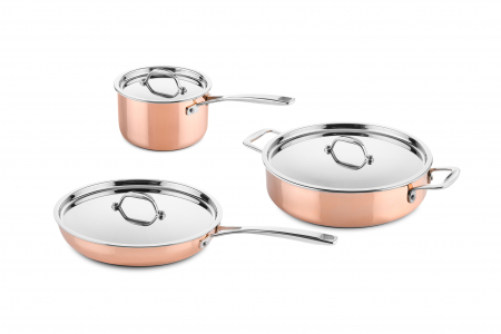 3 pcs copper cookware set (suitable for induction)