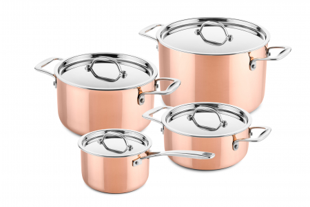 4 pcs copper cookware set (suitable for induction)
