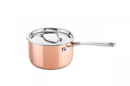 Copper saucepan Ø16cm (suitable for induction)