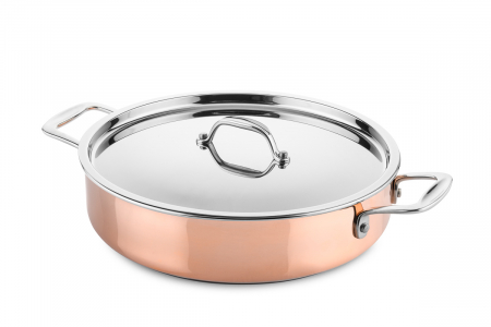 Copper saute pan Ø28cm (suitable for induction)